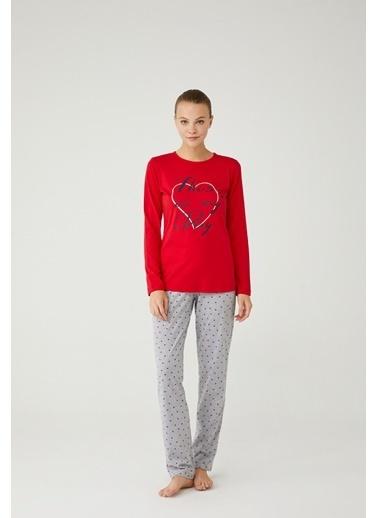 Mod Collection Kadın Pijama Takımı Kırmızı